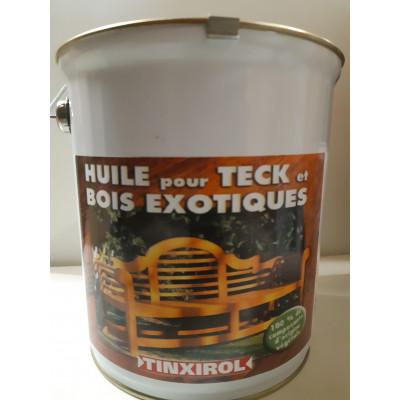 Huile végétale pour Teck et bois Exotiques