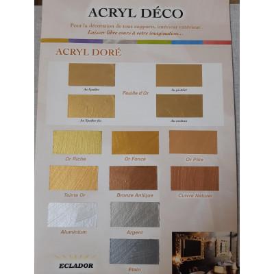 Dorure métalisée nacréé acryl dorée aluminium