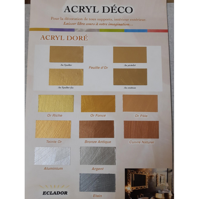 Dorure métalisée nacréé acryl dorée Argent