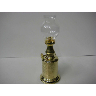 Lampe à essence en laiton poli - marque Gaudard
