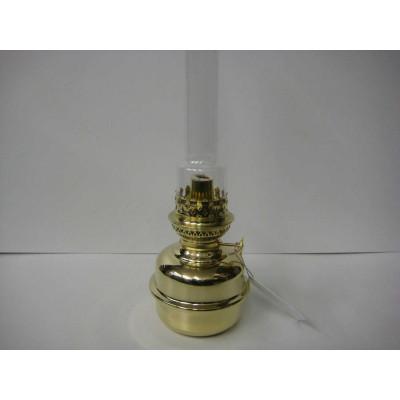 Lampe à pétrole en laiton poli - grand format - Fabriqué en France