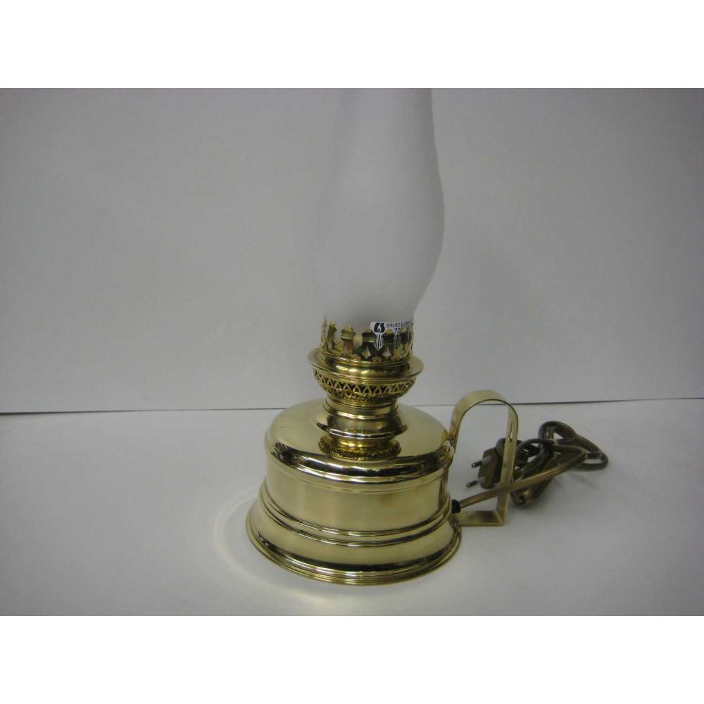 Lampe éléctrique en laiton poli