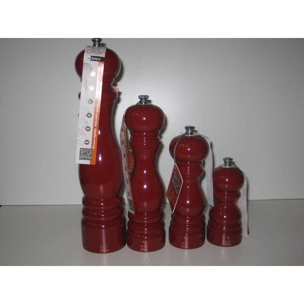 Moulin sel Peugeot Laqué rouge 18 cm