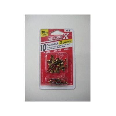 Crochet pour Tableau Crochet X num. 1