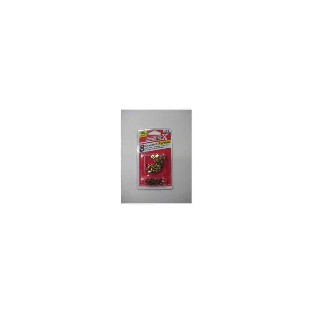 Crochet pour Tableau Crochet X num. 2