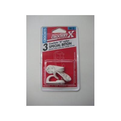 Crochet pour Tableau Crochet X Nylon Béton num. 3