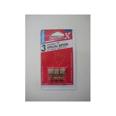 Crochet X Spécial Béton pour Tableau