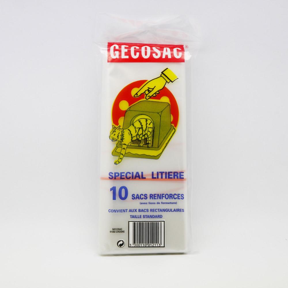 Spécial litière 10 sacs renforcés - Gecosac