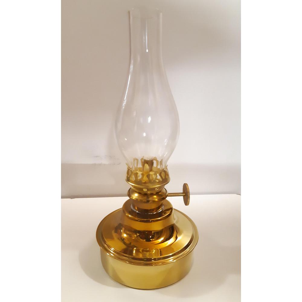 Lampe à pétrole en laiton poli
