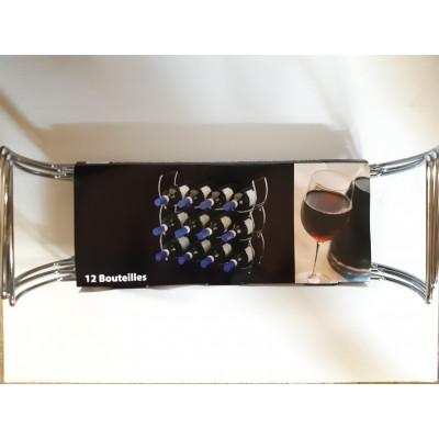 Porte bouteilles en fil chromé-EUROTEC